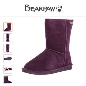 BearPaw Emma Short Suede Leather Boot-Size 7
